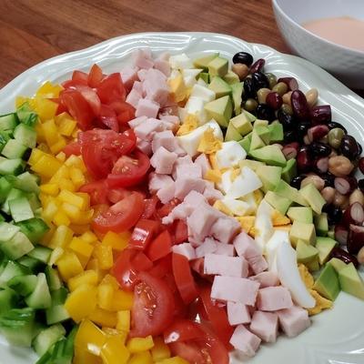 簡単 手作りドレッシングのコブサラダ 作り方 レシピ クラシル