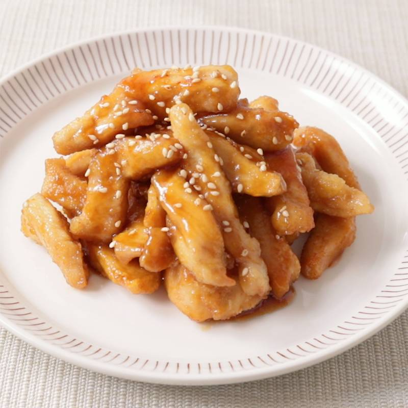 鶏胸肉のスティック甘辛唐揚げ 作り方・レシピ