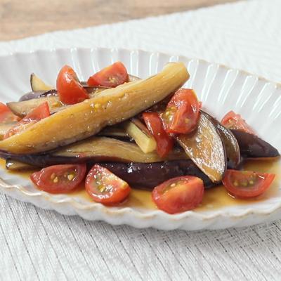 茄子とミニトマトの柚子胡椒マリネ
