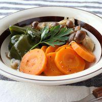 レンジで簡単 野菜の洋風煮浸し
