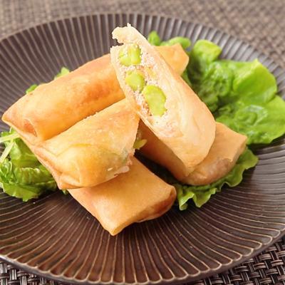 枝豆の明太チーズ春巻き