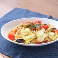 トマトとナスのペペロンチーノ