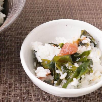お鍋で簡単 梅わかめ炊き込みご飯