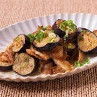 ナスと豚バラ肉の梅味噌炒め