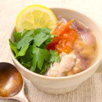 チキンとフレッシュトマトのエスニックスープ