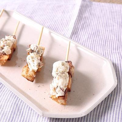 長芋のアンチョビクリームチーズのせ