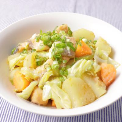 ちゃんちゃん焼き風 鮭とたっぷり野菜の味噌バター炒め