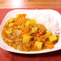フライパンで作る 野菜カレー