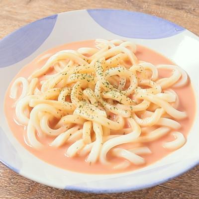 10分で作れる トマトジュースで濃厚な冷やしうどん