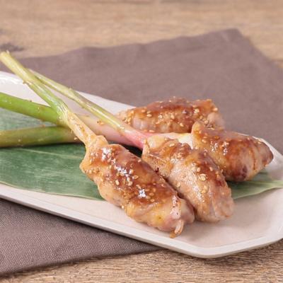 葉生姜の味噌チーズ肉巻き