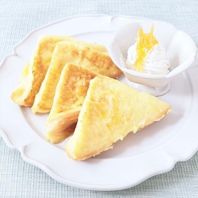 オレンジ風味の フレンチトースト