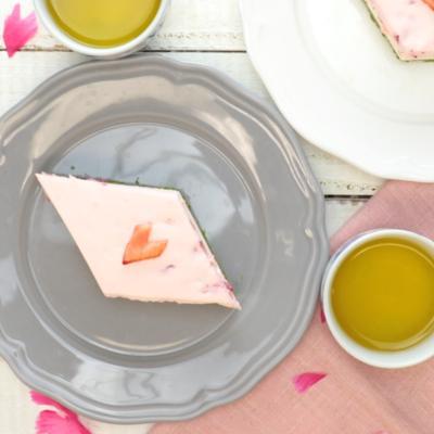 ひな祭りに 3色レアチーズケーキ