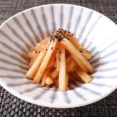 大根と長芋のピリ辛きんぴら