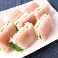 大葉香る 生ハムとスライスチーズの押し寿司
