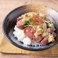 ガッツリ食べる ステーキ肉でネギ塩牛丼