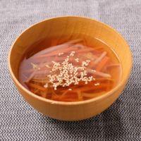 にんじんともやしの和風スープ