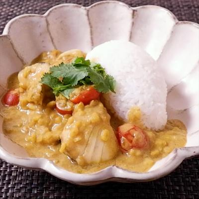 タラと豆のイエローカレー