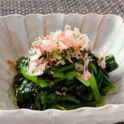 小松菜とわかめの酢の物