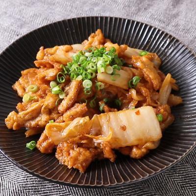 イカ天と白菜のピリ辛炒め