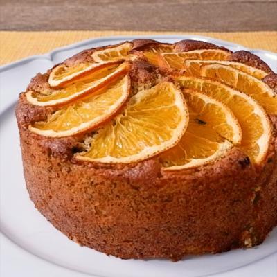 フレッシュオレンジと紅茶のケーキ