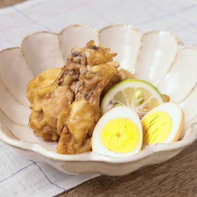 かぼすポン酢で手羽元のさっぱり煮
