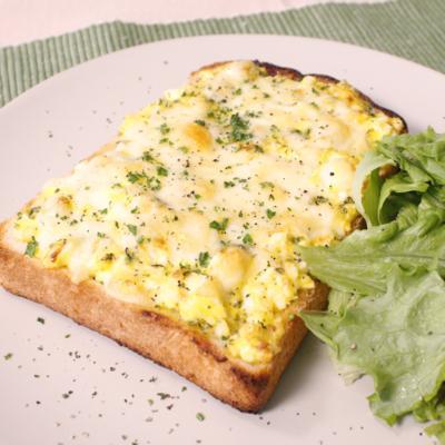 卵マヨチーズのあっという間にお手軽トースト!