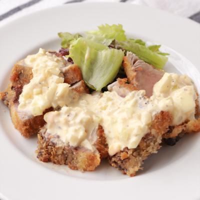 タルタルソースで食べる カツオのレアかつ