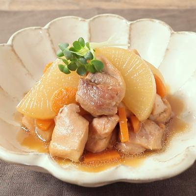 お酢でやわらか 鶏もも肉と大根のうま煮