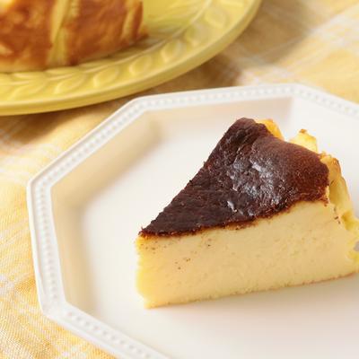 材料5つ こんがりバスク風チーズケーキ
