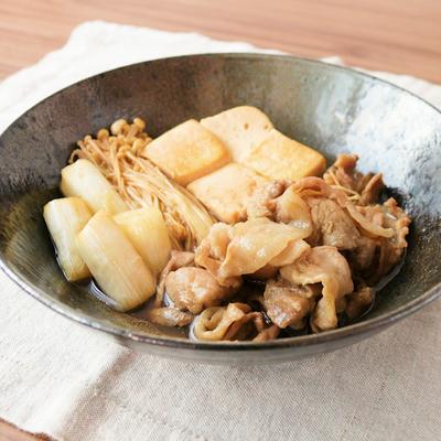 豚肉でもがっつり すき煮