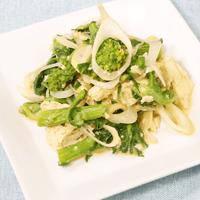 菜の花と豆腐のピリ辛サラダ
