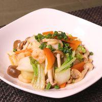 白菜とシーフードのうま煮