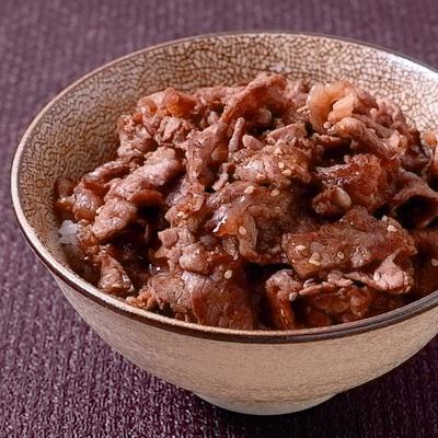 甘辛ダレがおいしい 牛こま肉の焼肉丼