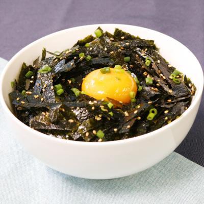 海苔の大量消費!手作り韓国海苔で節約丼ぶり