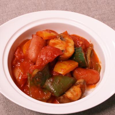 色々野菜のカレー風味ラタトゥイユ