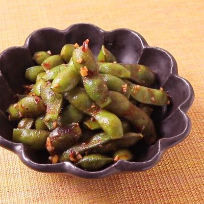 黒枝豆のピリ辛炒め