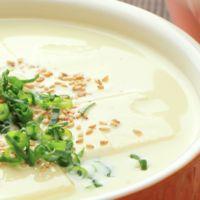 レンジで簡単 豆乳湯豆腐