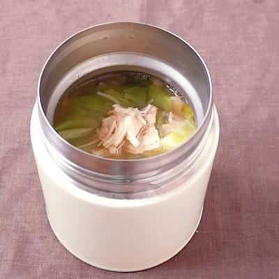 ホタテとキャベツの中華スープ