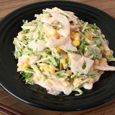 シャキッとレンコンの明太マヨサラダ