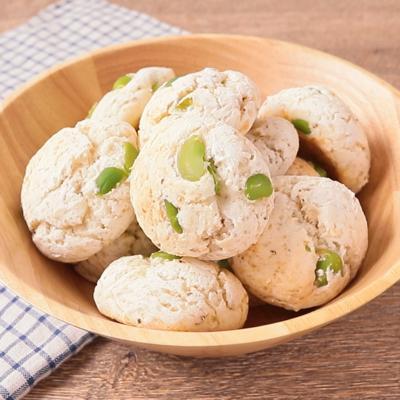 ホットケーキミックスで 枝豆もちもちパン