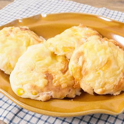 ホットケーキミックスでハムとコーンのパン