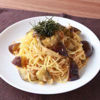 ツナとナスのバターポン酢スパゲティ