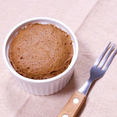 レンジで二層のチョコケーキ