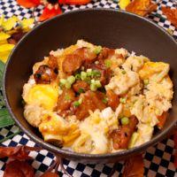レンジで簡単!缶詰と卵の親子丼