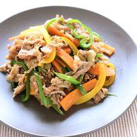 牛肉と彩り野菜のしょうゆ炒め