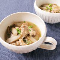 鶏とごぼうの生姜スープ
