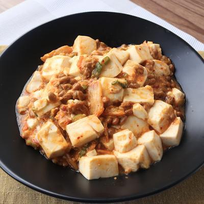 キムチ納豆のマーボー豆腐