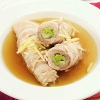 レンジで簡単 肉巻き白菜の中華スープ煮