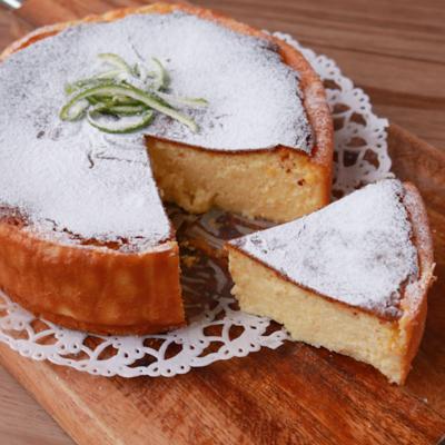 爽やかかぼすと豆腐のチーズケーキ