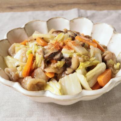 山椒香る 白菜と豚肉のうま煮